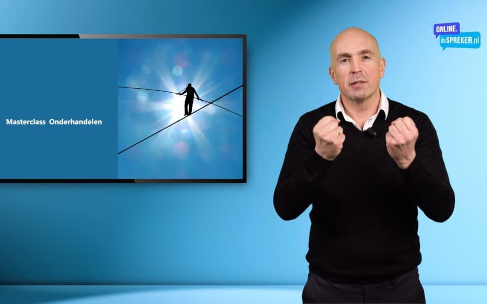 On demand masterclass succesvol onderhandelen e-learning